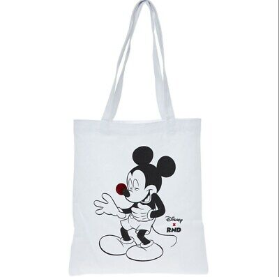Disney Mickey Mouse White Cotton Tote Bag (Comic Relief Red Nose Day 2019 (BNWT)