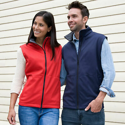 RED Large - Result Core Softshell Bodywarmer - Unisex Outdoor Gilet -R214X - LP3