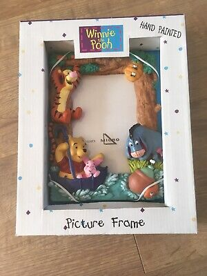 Disney 3D Winnie The Pooh And Friends Picture/photo Frame 6x4 Hand Painted