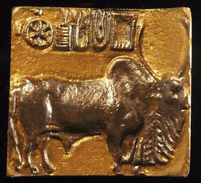 GOLDEN BULL of HARAPPA - Mounted Indus Valley Seal 2500 BC museum replica