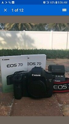 Canon EOS 7D 18.0MP Digital SLR Camera Body With Charger Battery & Strap