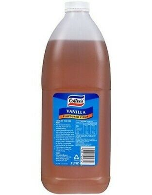 COTTEES VANILLA FLAVOUR TOPPING SYRUP 3L Bottle Thick Shake Milkshake /Sundaes