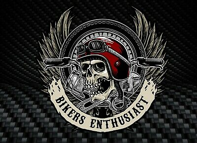 Skull Sticker for Motorcycle Helmet Tank Or Carry Case, Fits Laptops Ipads sk1
