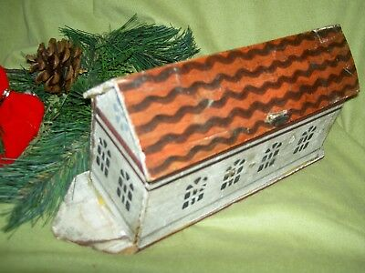 Victorian antique, German primitive wooden Noah's Ark toy, all orig. excellent