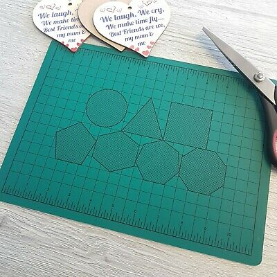 A3 A4 & Square CUTTING MAT NON SLIP GRID PRINTING LINE KNIFE BOARD CRAFT HEAL L1