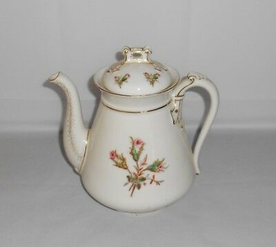 Charles Field Haviland Moss Rose Porcelain Coffee Pot Antique