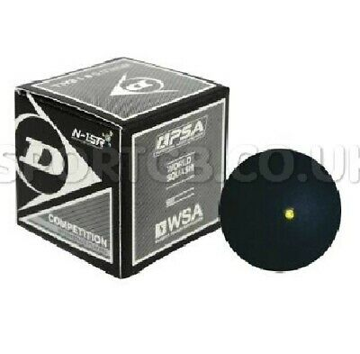 Dunlop Competition Squash Ball - 1 2 3 5 10 Balls - Single Yellow Dot
