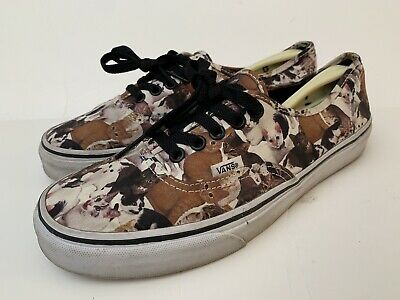 446359caf8 RARE VANS ASPCA Authentic Cat Print Kitty Kitten Women s Size 9.5 Mens 8  Lace Up