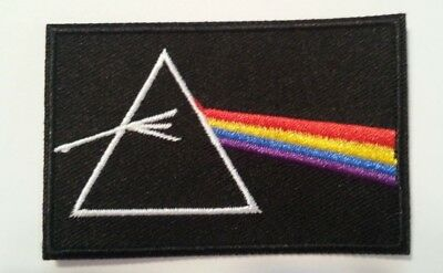 """Pink Floyd~Dark Side of the Moon~Embroidered Patch~3"""" x 2""""~Iron Sew~Ships FREE"""