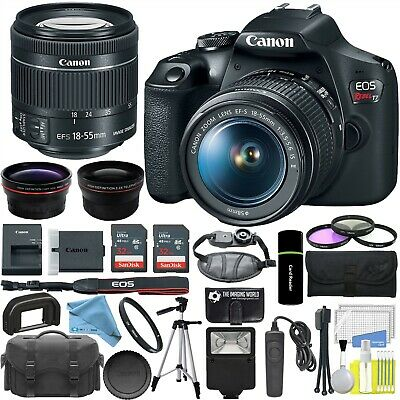 Canon EOS Rebel T7 DSLR Camera with 18-55mm Lens Professional Bundle