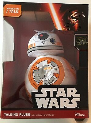 "Disney Star Wars The Force Awakens Big 15"" Bb-8 Droid Deluxe Talking Plush New"
