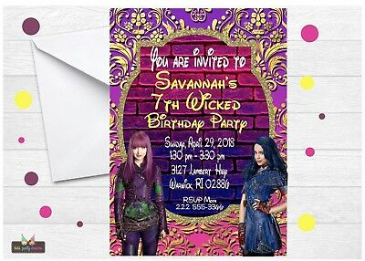 DESCENDANTS 2 INVITATION 12pcs