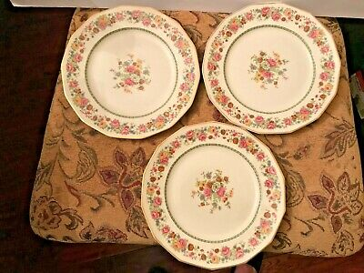 Finest French Ivory China CH Field Haviland Limoges Eileen France Set of 3Plates