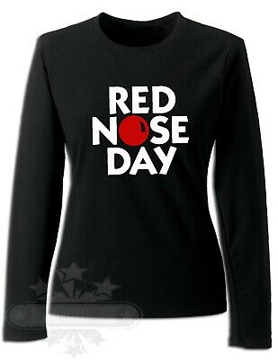 Red Nose Day 2019 Comic Relief, LADIES LONG SLEEVE, SLIM FIT, T-SHIRT