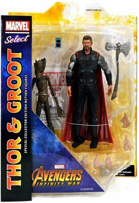 Marvel Select Avengers Infinity War Thor and Groot 7-Inch Action Figure