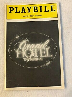 Vintage Grand Hotel The Musical Martin Beck Theatre NYC Broadway Playbill