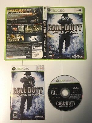 Call of Duty: World at War (Microsoft Xbox 360, 2008) Complete, Good