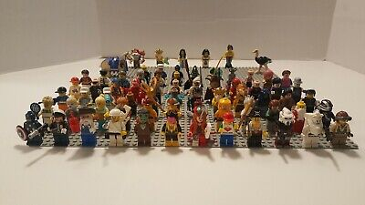 Huge Lego Lot of 70 + Series Minifigures with Accessories Star Wars/ Marvel ++++
