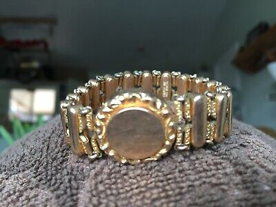 Beautiful Antique Victorian Stretch Bracelet Pat Date 1905, Gold Plated. Nice!
