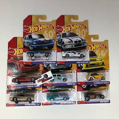 New Release!!  8 Car Set * 2019 Hot Wheels TARGET Throwback Decades