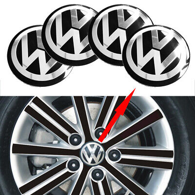 "4ps 5.6cm 2.0"" Black Silver Stickers Caps Center Hub Wheel Cap Emblems For Alls"