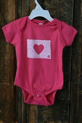 Montana Shirt Co Baby Girl Size 18m Pink Heart Colorado Logo One
