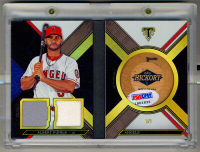 2016 Topps Triple Threads ALBERT PUJOLS Game Used Authentic Bat Knob Booklet 1/1