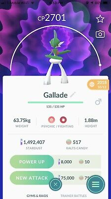 POKEMON GO TRADE - Gallade (Level 35, 2500-2900 CP)