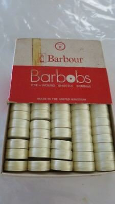 Barbour's Barbobs Nylon Pre-Wound For Leather Sewing Bobbins Coreless Type T
