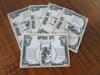 Batman Gotham City Money Dollars From Trading Card Movie Series