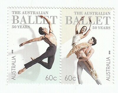 2012 SE-TENANT PAIR of 60c MNH STAMPS - AUSTRALIAN BALLET - 50 YEARS - MINT