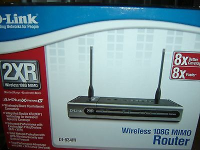 D-Link 2XR Wireless router DI-634M 108G Mimo