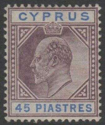CYPRUS KEVII 1904 Issue 45 Piastres Scott 59 SG71 LH