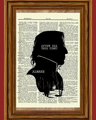 dfe4ec3cb Severus Snape Harry Potter Dictionary Art Print Picture Always Alan Rickman
