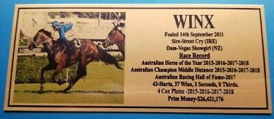 Winx The mighty mare Retirement Plaque  New Picture **Free Postage