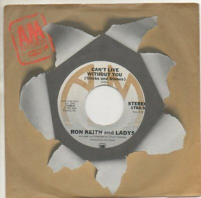 RON KEITH & LADYS 45 RPM Record GET IT ON / CAN'T LIVE WITOUT YOU  Northern Soul