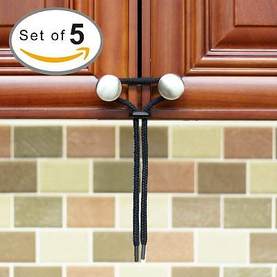 Baby Proofing Cabinet Latch 5-Pack Eco-Friendly kit for Child Proof Home Safety