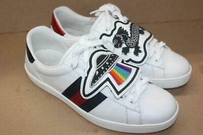96ae21d4a41 GUCCI ACE SNEAKER with Removable Patch - White - Size 8 G / 9 US ...