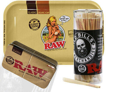 Raw Cones Pre Rolled King Size 50 Count W Raw Tray And Cone Artist