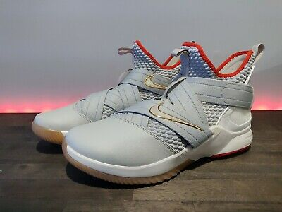 online store 412cb 5ec34 Nike LeBron James Soldier XII 12 Basketball Men s Shoes Light Bone Gray  Size 12