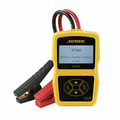 Autool BT-360 DC 12Volt Vehicle Battery Charger Tester Charging System Analyzer