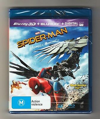 Spider-Man Homecoming 3D Blu-ray + Blu-ray - Brand New & Sealed