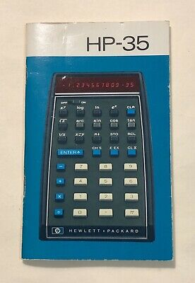 Vintage Manual for HP-35 LED Scientific Calculator