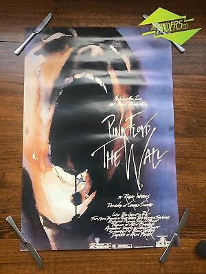 "Vintage 1982 Pink Floyd ""The Wall"" Movie Promotional Poster Music Album Cd"