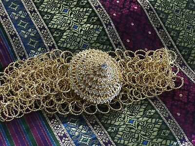 Thai Traditional Gold Plated Belt for Wedding Dress or Dancing Costume