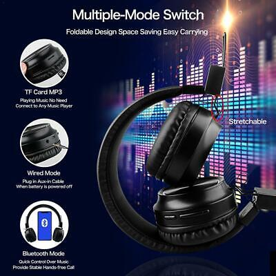 Wireless Bluetooth Headphones Active Noise Cancelling Over Ear Stereo Earphones