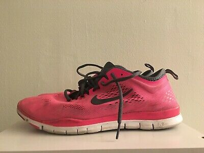 free shipping 4de08 5ffdc Womens Nike Free 5.0 TR Fit 4 Pink Running Shoes 629496-600 Size 10.5 -