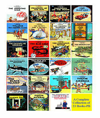 Tintin Comic  Books Set  for Children by Herge -  New 23  Books Collection - Pbs