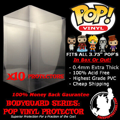 "Funko 3.75"" Pop Vinyl Protector Display Case High Grade Extra Thick X 10 Cases"