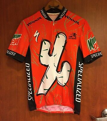 ☀RARE☀Mens Aussie Specialized Cactus Cup Mountain Dew Cycling Jersey Winner 257089f8e